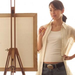 etudiante paintre